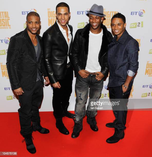 Jonathan 'JB' Gill Marvin Humes Oritse Williams and Aston Merrygold of JLS attend the BT Digital Music Awards at The Roundhouse on September 30 2010...