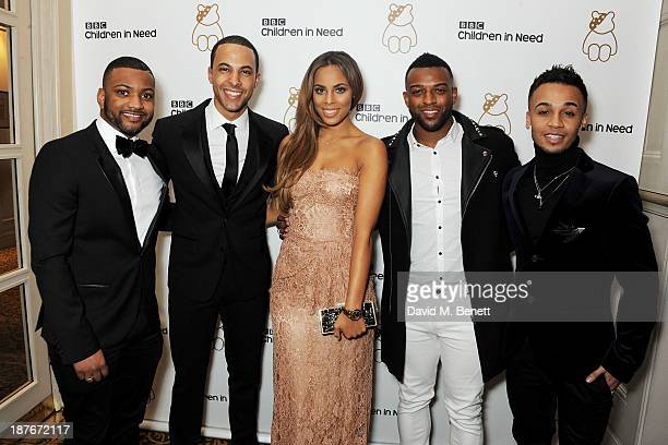 Jonathan 'JB' Gill Marvin Humes Rochelle Humes Oritse Williams and Aston Merrygold attend the BBC Children in Need Gala hosted by Gary Barlow at The...