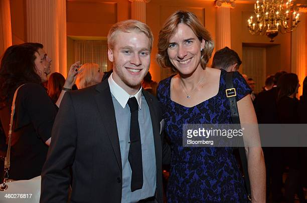 Jonathan Jonnie Peacock a gold medalist sprinter in the 2012 Paralympics left and Katherine Grainger gold medalist rower in the 2012 Olympics attend...