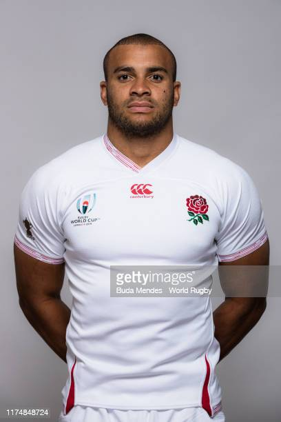 Jonathan Joseph of England poses for a portrait during the England Rugby World Cup 2019 squad photo call on September 15, 2019 in Miyazaki, Japan.