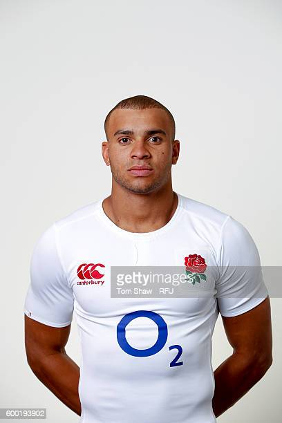 Jonathan Joseph of England poses for a portrait during the England Elite Player Squad photo call at The Lensbury on August 7 2016 in Teddington...