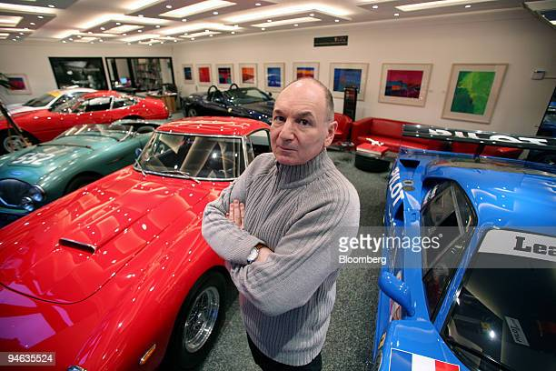 Jonathan Kaiser, a partner at the firm Cars International, poses in their showroom in South Kensington, London, U.K., on Monday, Dec.17, 2007....