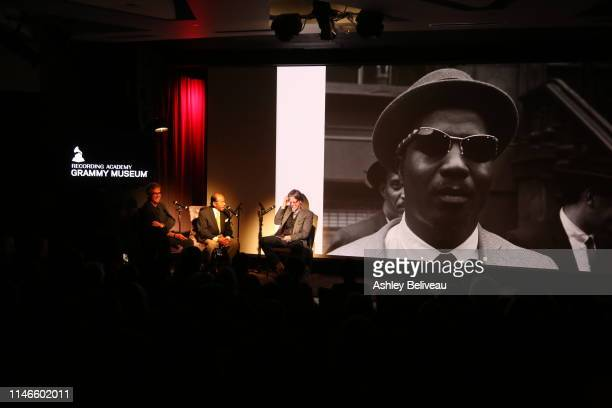 Jonathan Kane and Benny Golson speak with GRAMMY Museum Artistic Director Scott Goldman at Art Kane Harlem 1958 at The GRAMMY Museum on May 02 2019...