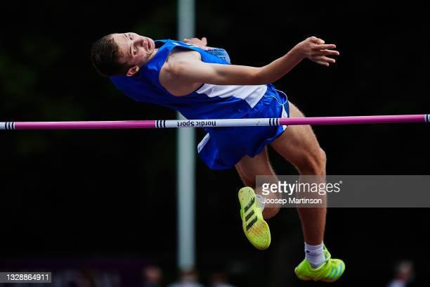 Jonathan Kapitolnik of Israel competes in the Men's High Jump Qualification during European Athletics U20 Championships Day 1 at Kadriorg Stadium on...