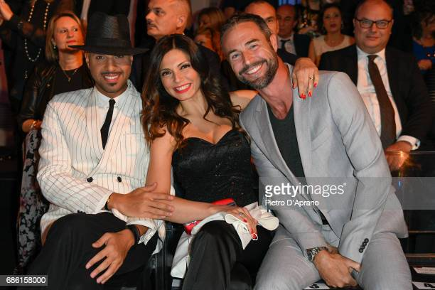 Jonathan Kashanian Alessia Mancini Flavio Montrucchio attends the Carlo Pignatelli Haute Couture fashion show on May 20 2017 in Milan Italy