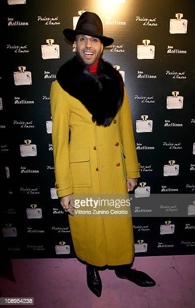 Jonathan Kashanian attends the John Galliano perfume launch held at the Plastic on February 9 2011 in Milan Italy