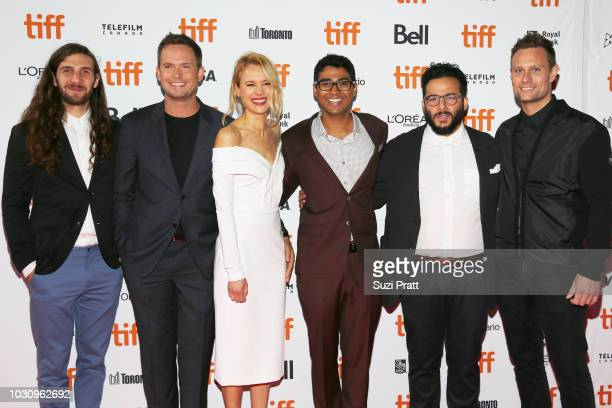 Jonathan Kawchuk Patrick J Adams Kristen Hager Akash Sherman Ennis Esmer and Ari Lantos attend the 'Clara' premiere during 2018 Toronto International...