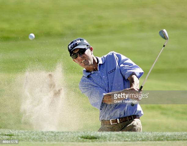 Jonathan Kaye hits out of a bunker on the 9th hole during the second round of the 2005 Michelin Championship Championship Friday Oct 14 at TPC at...