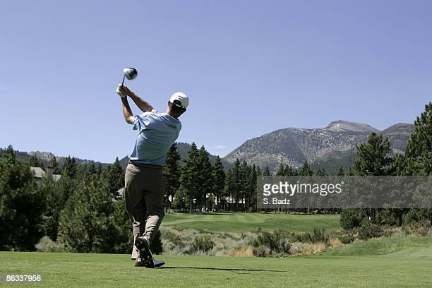 Jonathan Kaye in action during the final round at the RenoTahoe Open August 21 held at Montreux GC Reno Nevada