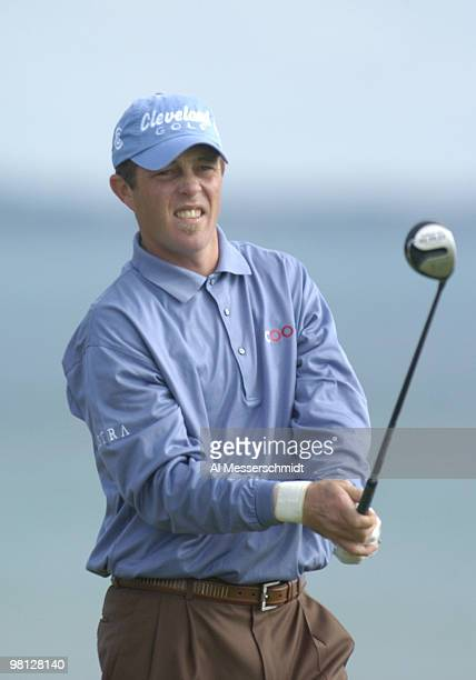 Jonathan Kaye tees off at Whistling Straits site of the 86th PGA Championship in Haven Wisconsin August 12 2004