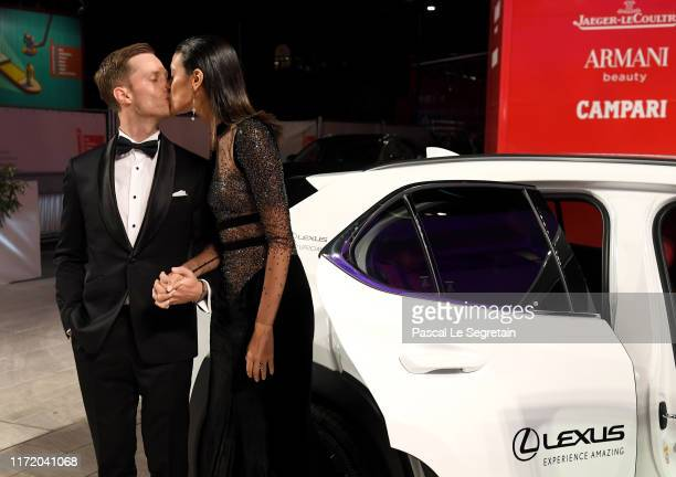 """Jonathan Keltz and Laysla De Oliveira attend the """"Guest of Honour"""" screening during the 76th Venice Film Festival at Sala Grande on September 03,..."""