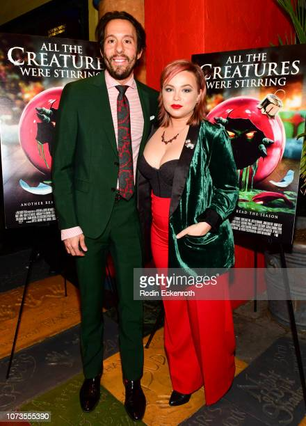 Jonathan Kite and Amanda Fuller attend the screening of All The Creatures Were Stirring at the Vista Theatre on November 27 2018 in Los Angeles...