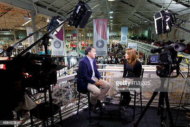 Jonathan Klein, Co-Founder and CEO of Getty Images is interviewed by Deirdre Bolton for Fox Business News at the 2014 Web Summit on November 5, 2014...
