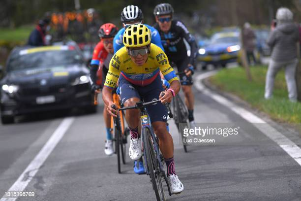 Jonathan Klever Caicedo Cepeda of Ecuador and Team EF Education - Nippo attacks in the Breakaway during the 74th Tour De Romandie 2021, Stage 2 a...