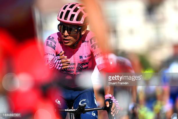 Jonathan Klever Caicedo Cepeda of Ecuador and Team EF Education - Nippo crosses the finishing line during the 76th Tour of Spain 2021, Stage 4 a...