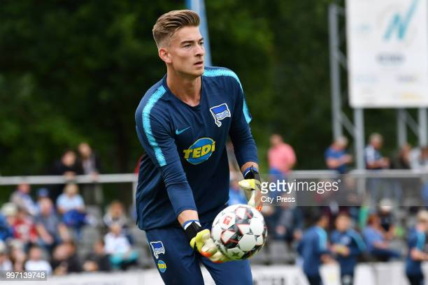 Jonathan Klinsmann of Hertha BSC before the game between MSV Neuruppin against Hertha BSC at the VolksparkStadion on july 12 2018 in Neuruppin Germany