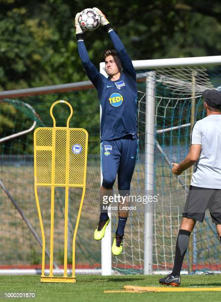 Jonathan Klinsmann of Hertha BSC during the training camp at VolksparkStadion on July 16 2018 in Neuruppin Germany