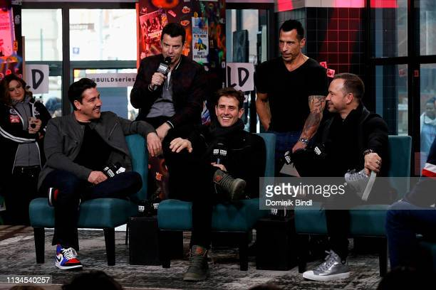 Jonathan Knight Jordan Knight Joey McIntyre Danny Wood and Donnie Wahlberg at Build Studio on March 08 2019 in New York City
