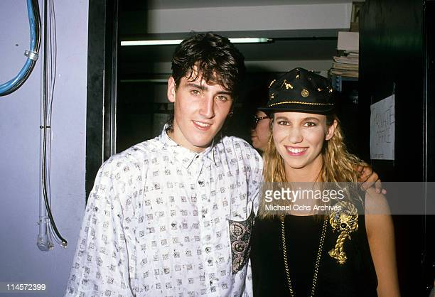 Jonathan Knight of New Kids On The Block with singer Debbie Gibson circa 1989