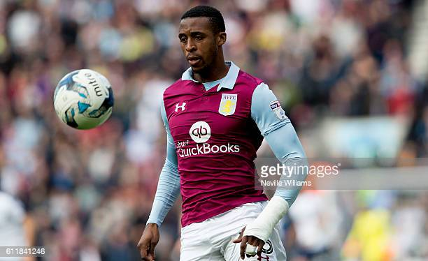 Jonathan Kodjia of Aston Villa during the Sky Bet Championship match between Preston North End and Aston Villa at Deepdale on October 01 2016 in...