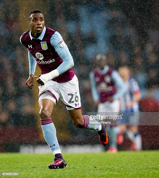 Jonathan Kodjia of Aston Villa during the Sky Bet Championship match between Aston Villa and Wigan Athletic at Villa Park on December 10 2016 in...