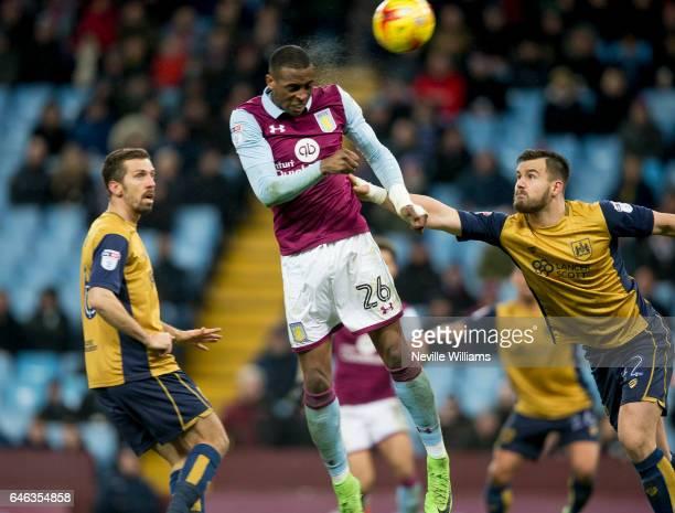 Jonathan Kodjia of Aston Villa scores for Aston Villa during the Sky Bet Championship match between Aston Villa and Bristol City at Villa Park on...