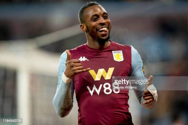 Jonathan Kodjia of Aston Villa scores his second goal for Aston Villa during the Carabao Cup Quarter Final match between Aston Villa and Liverpool FC...