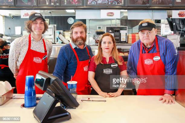 Jonathan Krisel Zach Galifianakis Martha Kelly and Louie Anderson participate in the FYC event for FX's 'Baskets' at Arby's on May 29 2018 in Los...