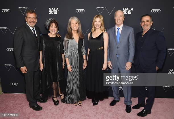 Jonathan Lee Barbara Lee Jenny Brorsen Jill Bikoff Richard M DeMartini and J Darius Bikoff attend the 2018 Whitney Gala Sponsored By Audi on May 22...