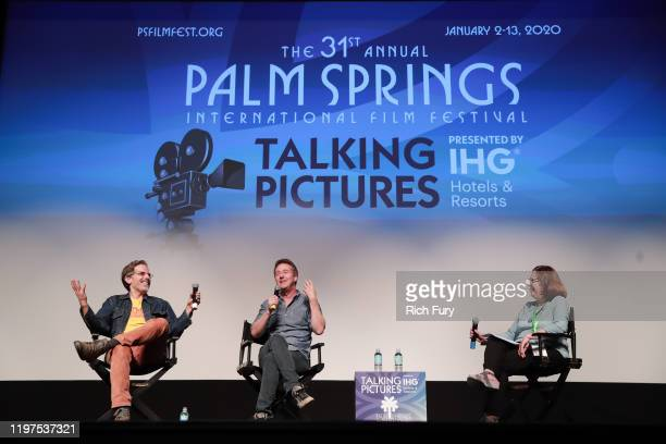 Jonathan Lethem Edward Norton and Jane Schoettle attend the Talking Pictures screening of Motherless Brooklyn during the 31st Annual Palm Springs...