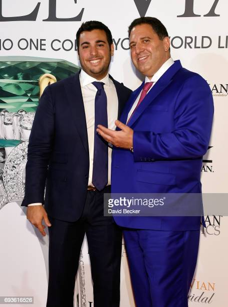 Jonathan LeVian and Le Vian President Moosa LeVian attend the Le Vian 2018 Red Carpet Revue at the Mandalay Bay Convention Center on June 7 2017 in...