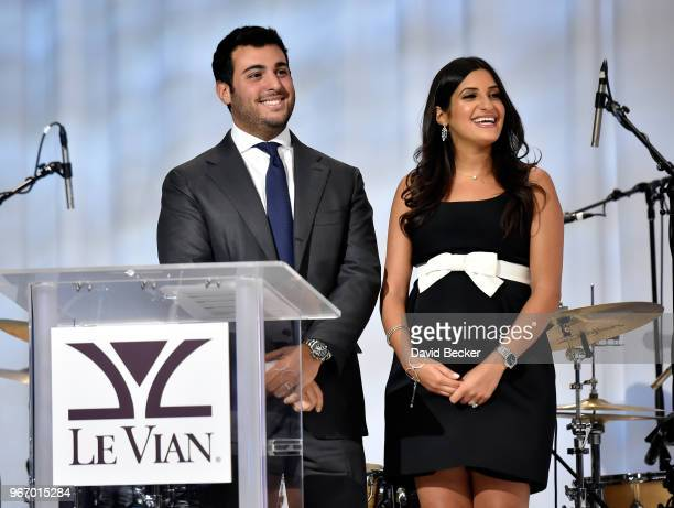 Jonathan LeVian and Naomi LeVian attend the Le Vian 2019 Red Carpet Revue at the Mandalay Bay Convention Center on June 3 2018 in Las Vegas Nevada