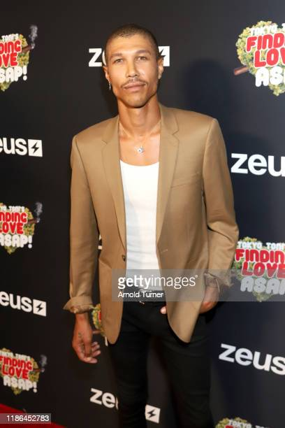 Jonathan Lewis attends Tokyo Toni's Finding Love ASAP Los Angeles premiere at AMC Theaters Universal City Walk on November 08 2019 in Universal City...