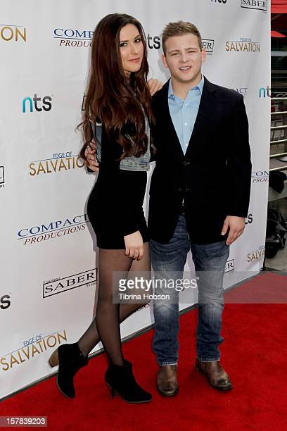 Jonathan Lipnicki and Lauren Summers attend the 'Edge Of Salvation' Los Angeles premiere at ArcLight Cinemas on December 6 2012 in Hollywood...