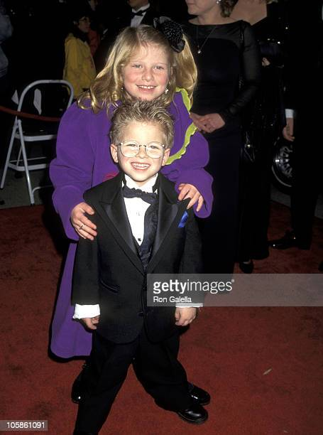 Jonathan Lipnicki and sister Alexis Lipnicki during 11th Annual American Comedy Awards at The Shrine Auditorium in Los Angeles California United...