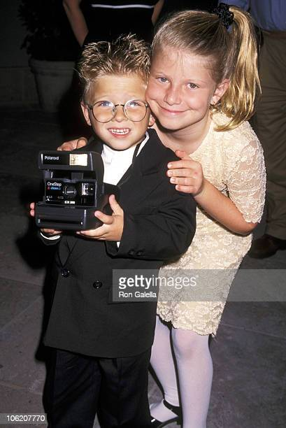 Jonathan Lipnicki and sister Alexis Lipnicki during CBS Summer TCA Press Tour at RitzCarlton Hotel in Pasadena California United States