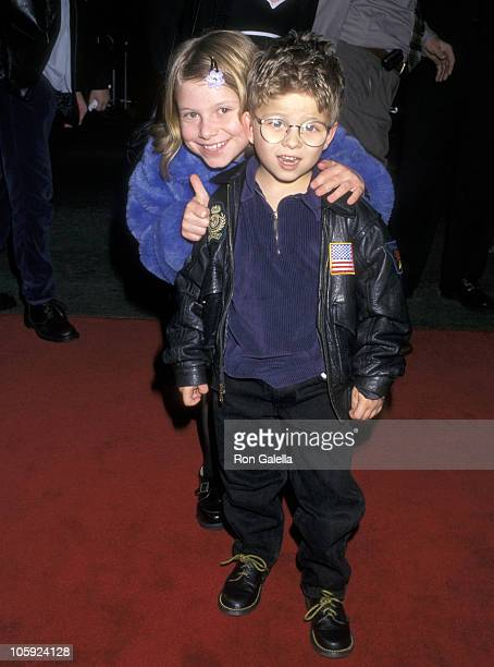Jonathan Lipnicki and sister Alexis Lipnicki during Spice World Los Angeles Premiere at Mann's Chinese Theater in Hollywood California United States