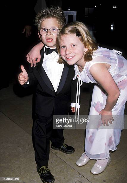 Jonathan Lipnicki and sister Alexis Lipnicki during Tom Cruise Honored by Artists Rights at Beverly Hilton Hotel in Los Angeles California United...