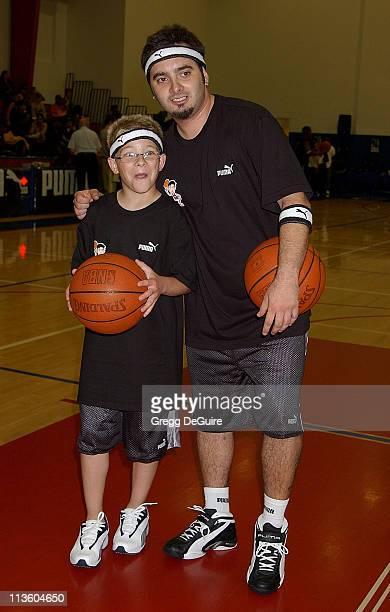 Jonathan Lipnicki Chris Kirkpatrick of 'NSync' during Frankie Muniz Hosts 'HoopLA' a Celebrity Basketball Game Which Benefits The Starlight...