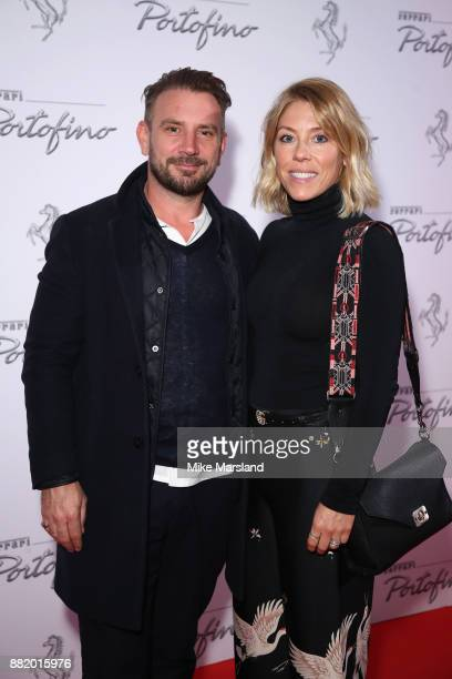 Jonathan Long and Sophie Long attend the UK launch event for the new Ferrari Portofino at Kensington Olympia on November 29 2017 in London England