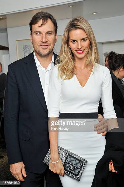 Jonathan Lourie and Frida Lourie attend the book launch of Art Studio America at ICA on November 11, 2013 in London, England.