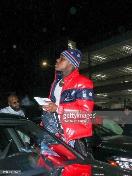 Jonathan Lyndale Kirk aka 'DaBaby' is seen on February 27 2020 in Los Angeles California