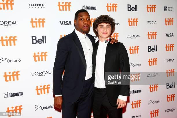 Jonathan Majors and Richie Merritt attend the 'White Boy Rick' premiere during 2018 Toronto International Film Festival at Ryerson Theatre on...