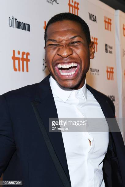 Jonathan Majors attends the White Boy Rick premiere during 2018 Toronto International Film Festival at Ryerson Theatre on September 7 2018 in Toronto...