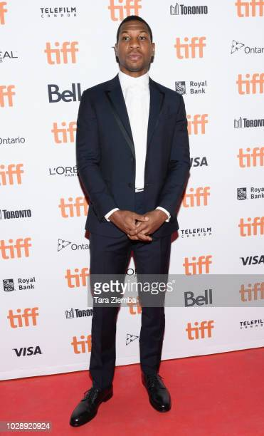 Jonathan Majors attends the 'White Boy Rick' premiere during 2018 Toronto International Film Festival at Ryerson Theatre on September 7 2018 in...