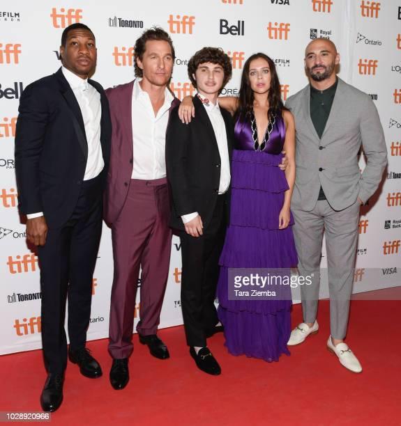 Jonathan Majors, Matthew McConaughey, Richie Merritt, Bel Powley and Yann Demange attend the 'White Boy Rick' premiere during 2018 Toronto...