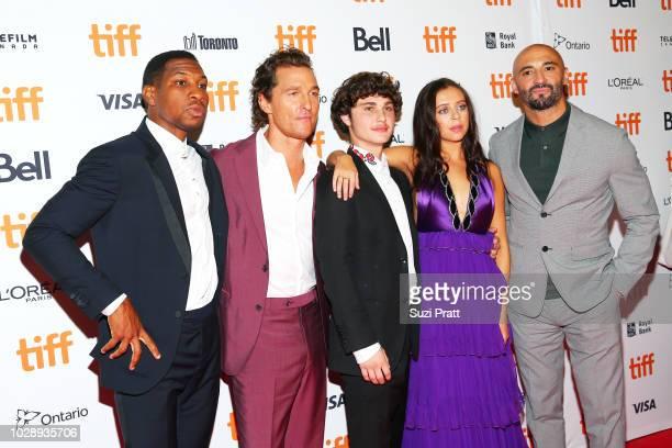 Jonathan Majors Matthew McConaughey Richie Merritt Bel Powley and Yann Demange attend the 'White Boy Rick' premiere during 2018 Toronto International...