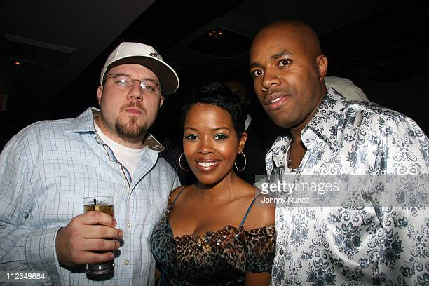 Jonathan Manion Malinda Williams and DNice during DJ DNice Birthday Party at Bed in New York New York United States