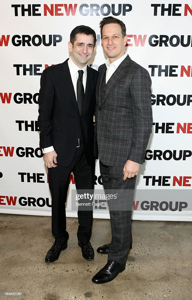Jonathan Marc Sherman and Josh Charles attends The New Group Bright Lights Off-Broadway 2013 Gala at Tribeca Rooftop on March 11, 2013 in New York City.