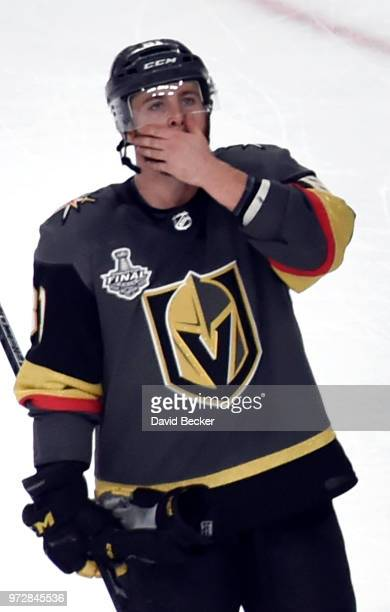 Jonathan Marchessault of the Vegas Golden Knights on the ice after losing 43 to the Washington Capitals in Game Five of the 2018 NHL Stanley Cup...